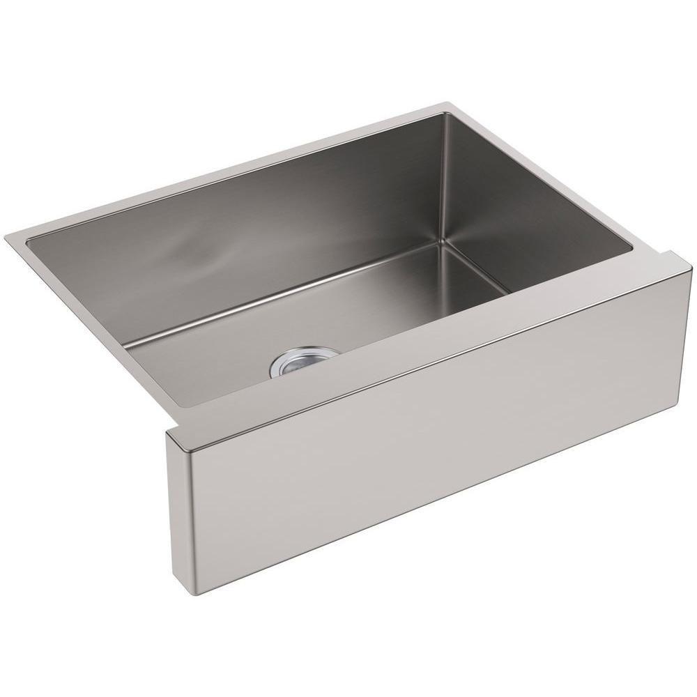 26++ Kohler single bowl stainless steel apron kitchen sink type