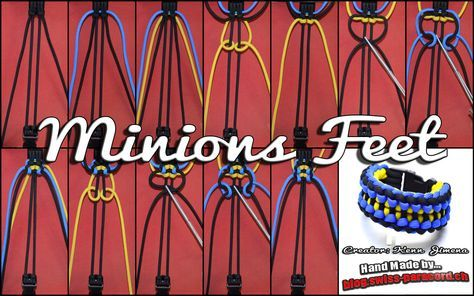 Minions and Feet Tutorial | Swiss Paracord