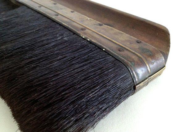 Vintage Wallpaper Hanging Brush Wooden Handle Brush By