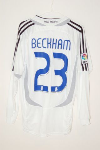 finest selection d2d5b bd452 2006/2007 Real Madrid David Beckham Home Jersey | Classic ...