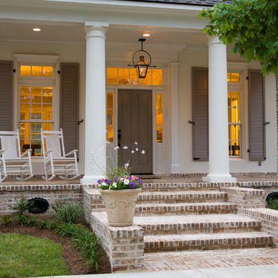 Brick Porch Design Ideas Pictures Remodel And Decor Colonial