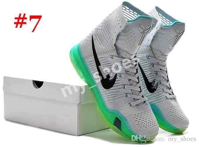 83b083538e8a 2017 Kobe X Elite Basketball Shoes Men Retro High Cut Kobe 10 Boots  Sneakers Hight Cut Weaving Sports Shoes Size 40-46