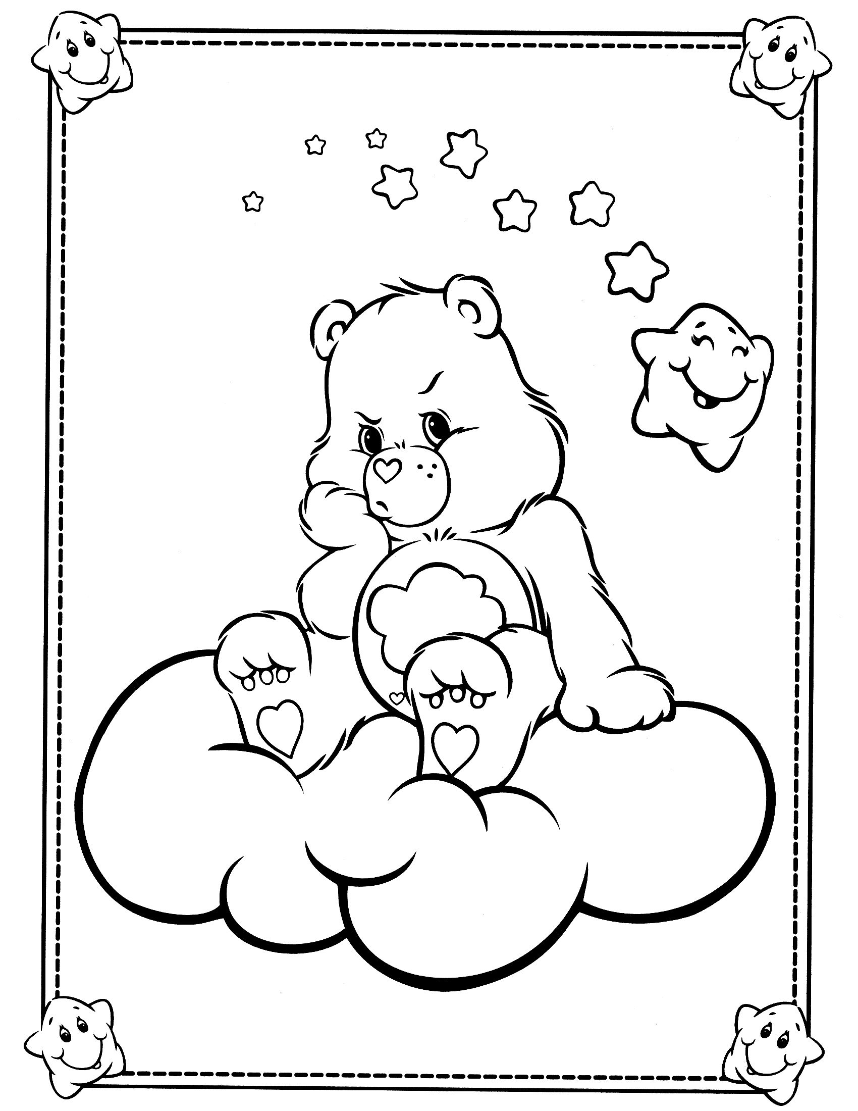 Coloring Pages Coloring Pages Of Care Bears 1000 images about care bear grumpy 4 on pinterest cartoon gel pens and icons