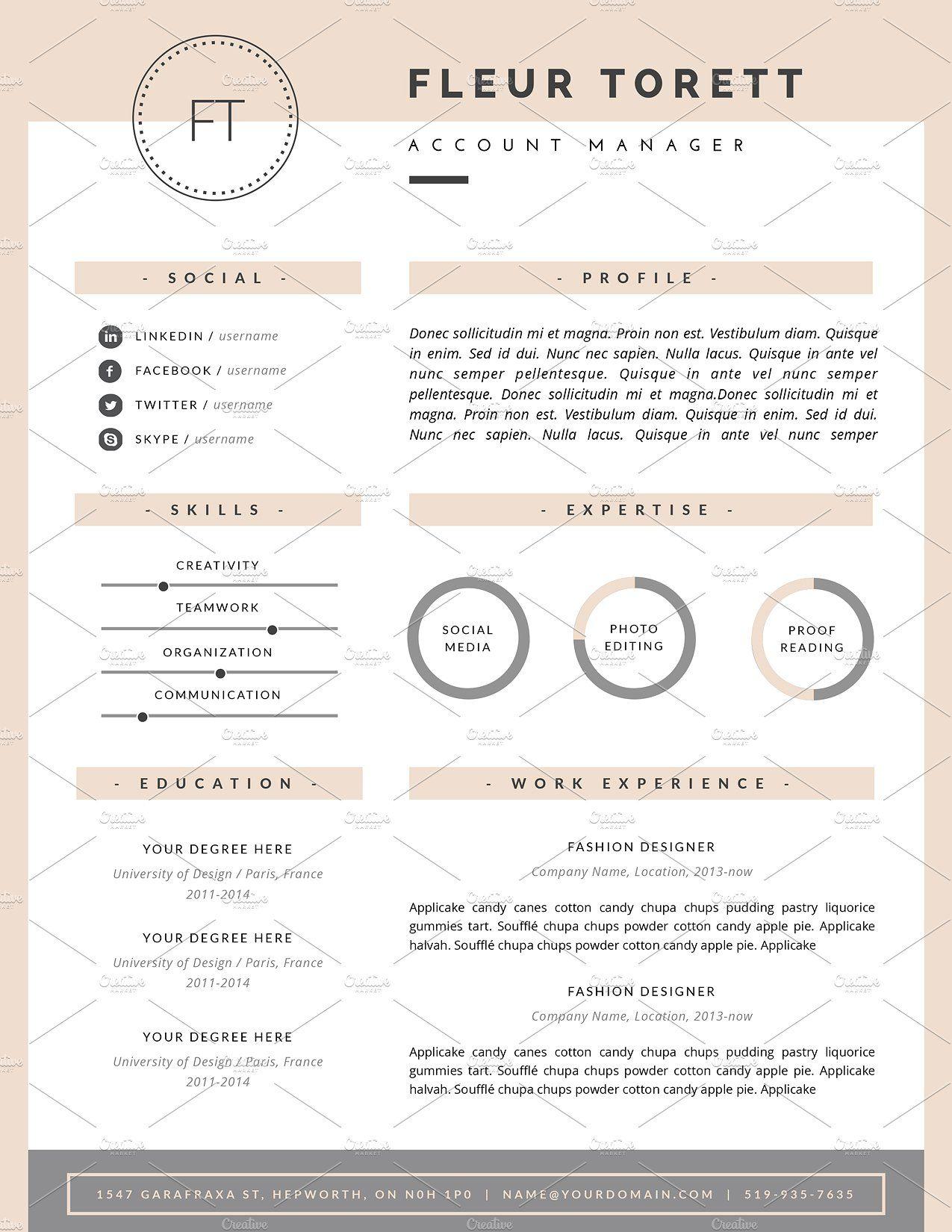 Hipster Resume Template Cv Design Hipster Resume Resume Template Cv Design