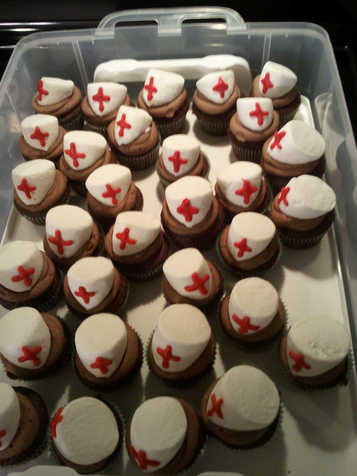 Flakefrosting nurses week cupcakes nurse cupcakes