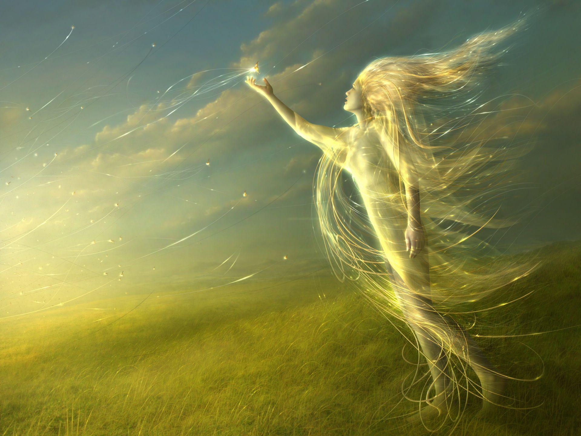 light fairies wallpaper - photo #26