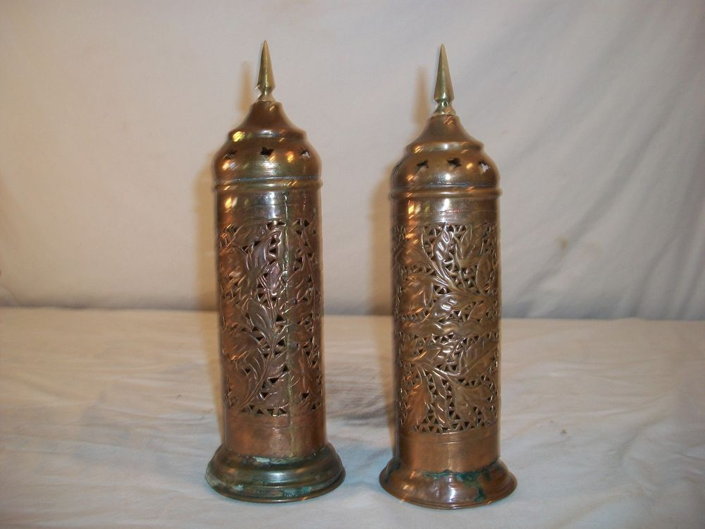 Vintage Brass Candle Holders Made In India | Antiqued ...