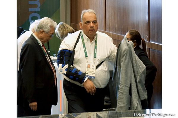 United World Wrestling president Nenad Lalovic at the IOC Session on Aug. 3 (ATR)