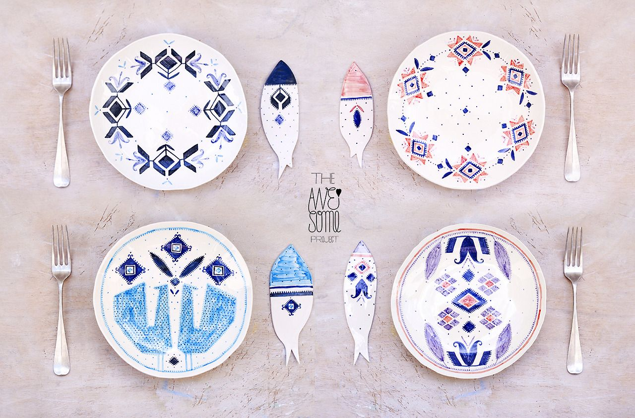 one-of-a-kind porcelain tableware