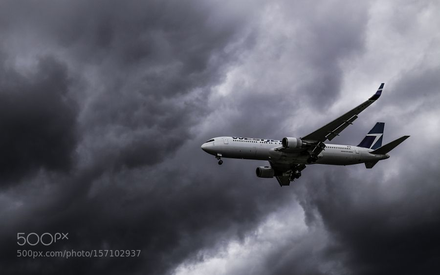 Landing in the Storm by ErnieDickey