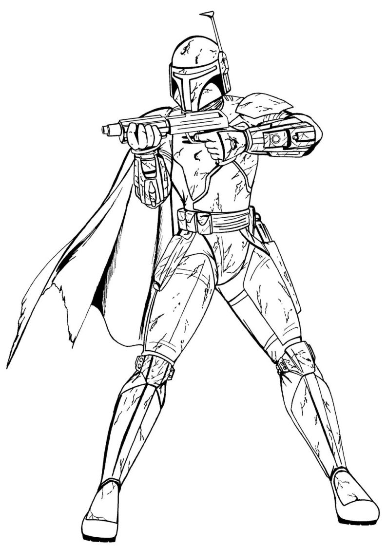 boba fettthe bounty hunter hired by darth vader is a fun coloring page to decorate you can color your star wars character online with the interactive - Boba Fett Coloring Pages Printable