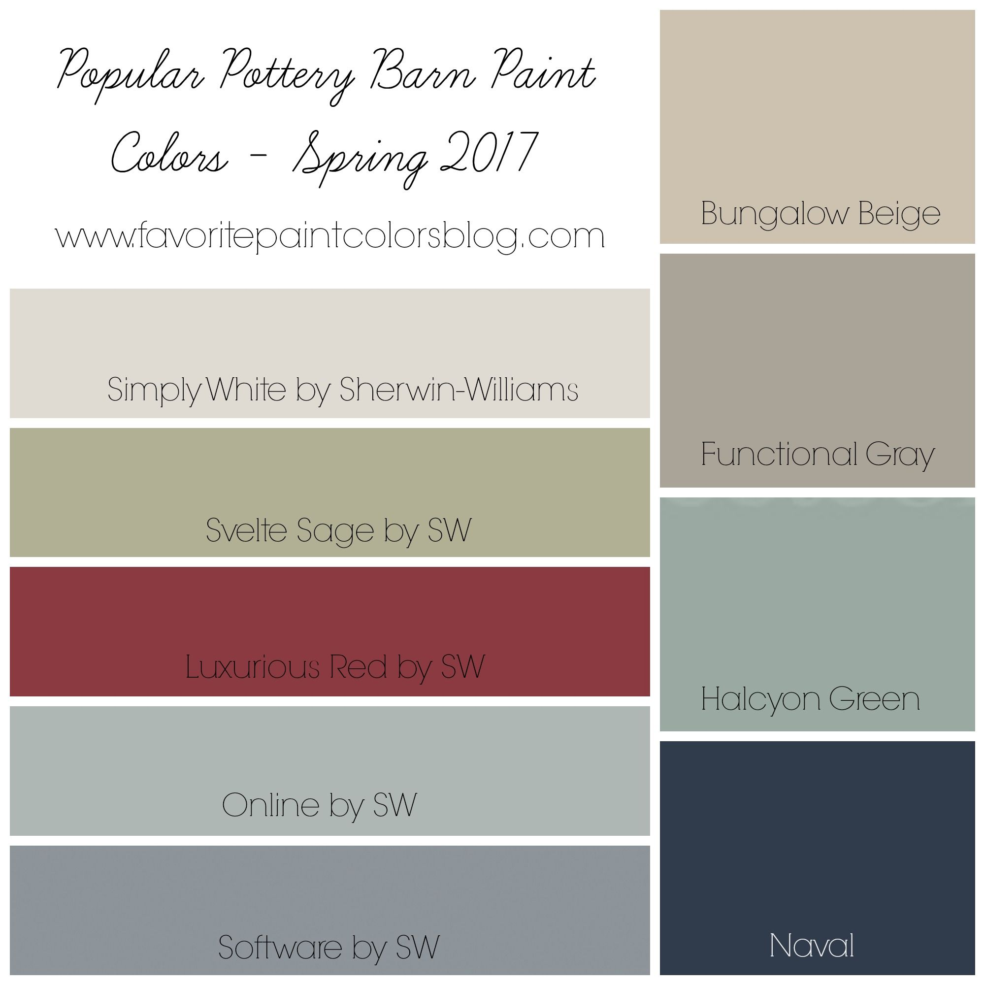 Popular Paint Colors 2017 popular pottery barn paint colors (favorite paint colors