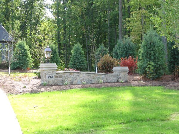 Stone Walls Landscaping | Natural Stone Entrance Wall Raised Decorative  Walls Seating Wall With .