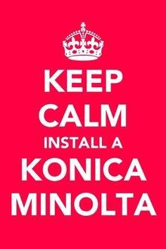 Lets face it - you depend on your office printer and having a printer thats fast and reliable makes your job easier. Keep calm and we can help you find the printer that is right for you.   #KeepCalm #Saskatchewan #Regina #Saskatoon #KonicaMinolta