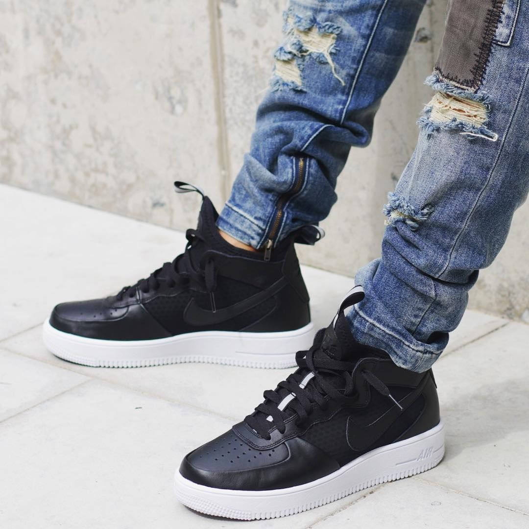 best deals on d83dd 4e132 Nike Air Force 1 Ultraforce Mid Black  White (via loadednz)