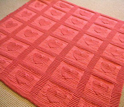 Free Knitting Pattern For Heart Baby Blanket Projets Essayer