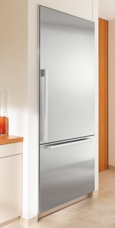 Miele 36 Inch Built In Fully Integrated Bottom Freezer Refrigerator With Cu Capacity 3 Adjule Gl Shelves Dual Compressor System