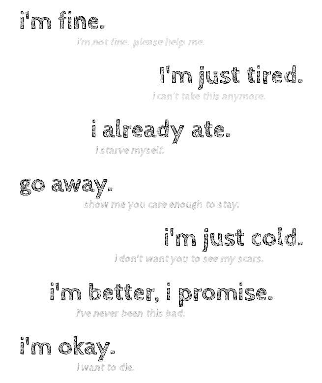 Anorexia Quotes Quotes About Self Harm  Anorexia Depression Lies Selfharm .
