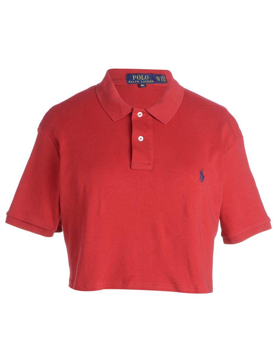 Women S Beyond Retro Label Label Lauren Cropped Polo T Shirt Red Xl Beyond Retro E00514345 Polo Outfit Polo Shirt Outfits Red Polo Shirt Outfit