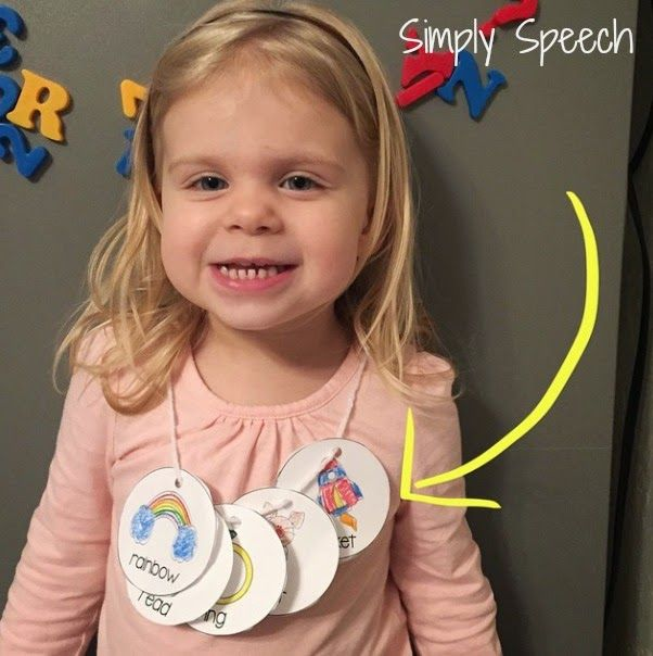 Simply Speech: Articulation Necklaces! Targets /r/ /k/ and /g/. Pinned by SOS Inc. Resources. Follow all our boards at pinterest.com/sostherapy/ for therapy resources.