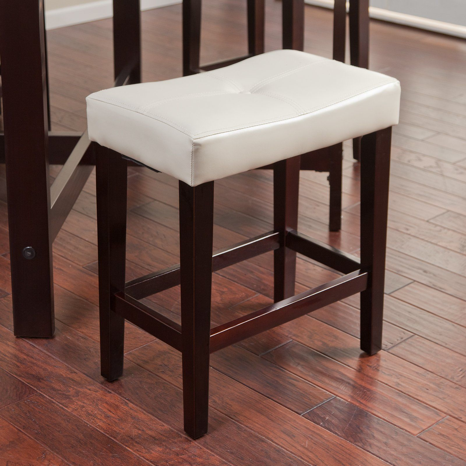 Have To Have It Avorio 26 Inch Saddle Counter Stool Ivory 49 99 Leather Counter Stools Counter Stools Stool