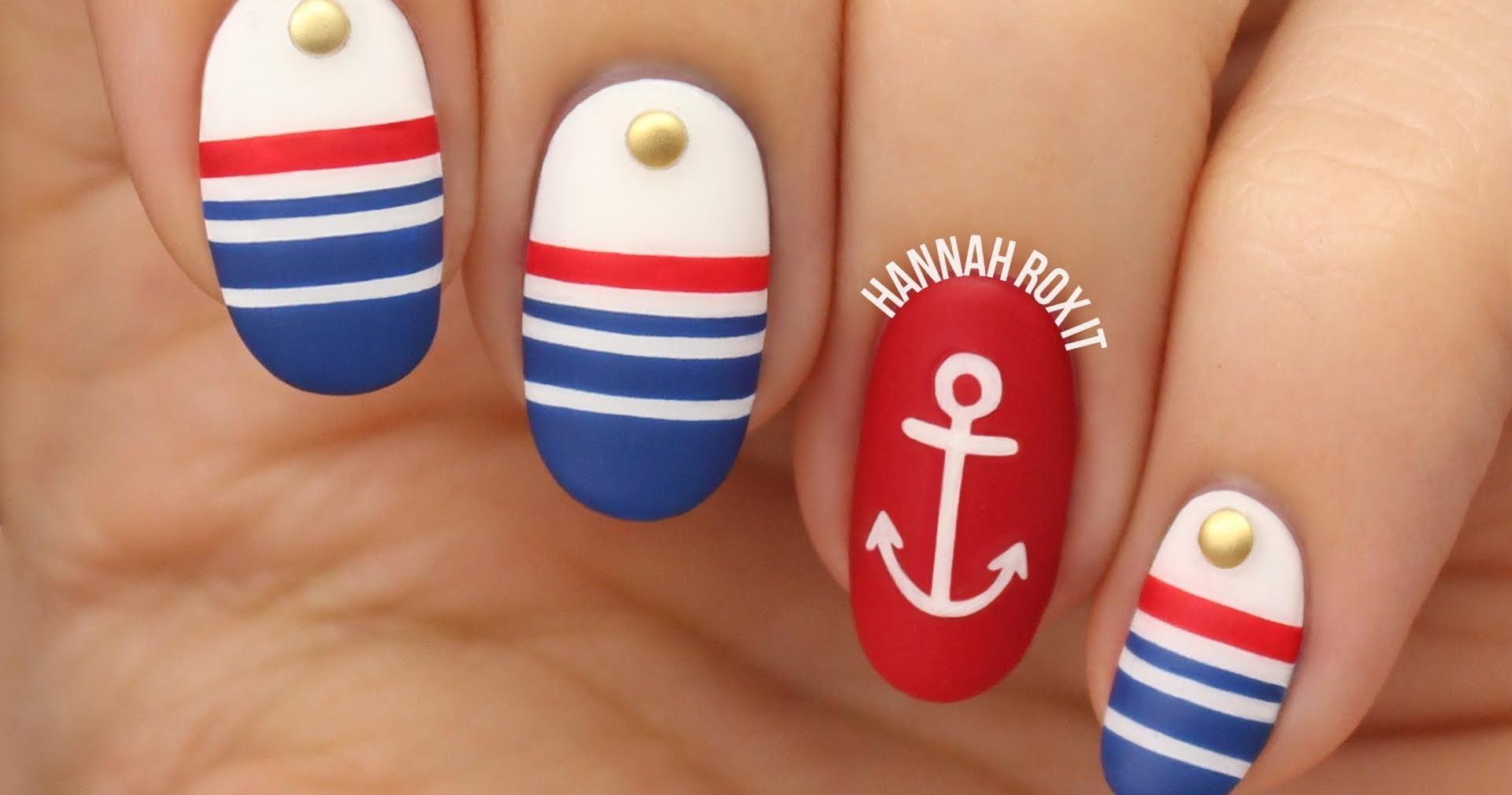Uñas náuticas o marineras paso a paso, ¡no te lo pierdas! | Moda y ...