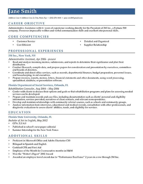 Resume Template Blue Contemporary  Computer Keyboard