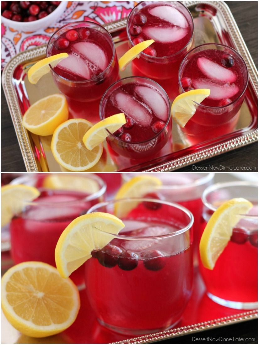 Sparkling Cranberry Punch - the perfect beverage for a non-alcoholic ...