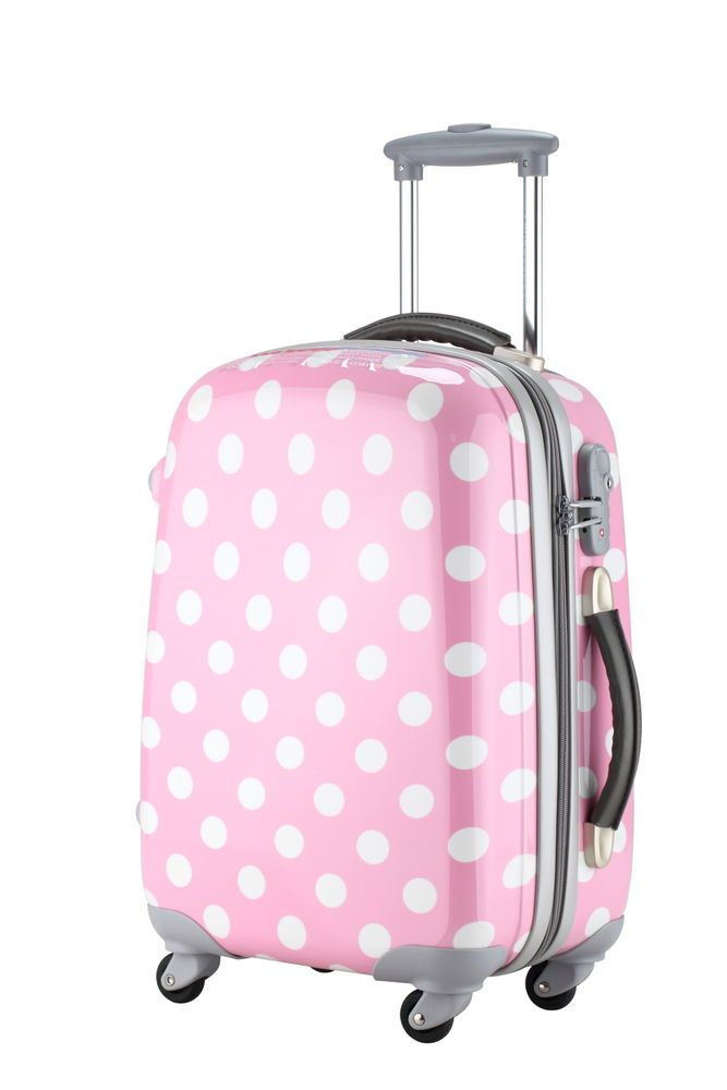 1ad2a54c5 Ambassador® Polka Dots HardCase Fashion 20'' Carry On Luggage ...