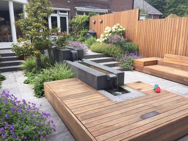Inspirerende tuin tablazz hout vlonder terras tuinontwerp