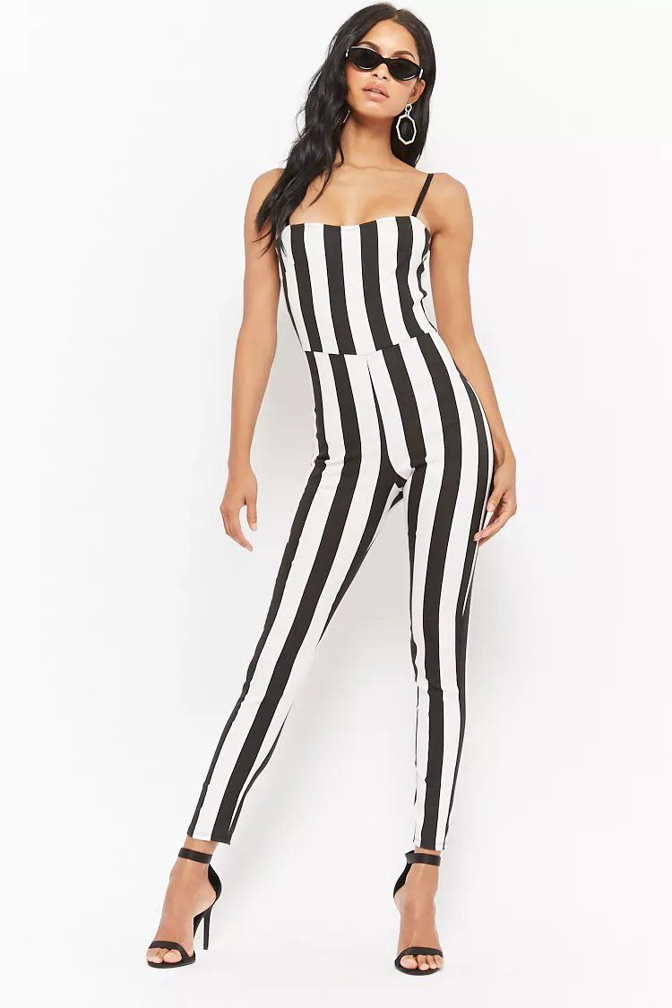 6b058e1b207 Product Name Vertical Striped Jumpsuit