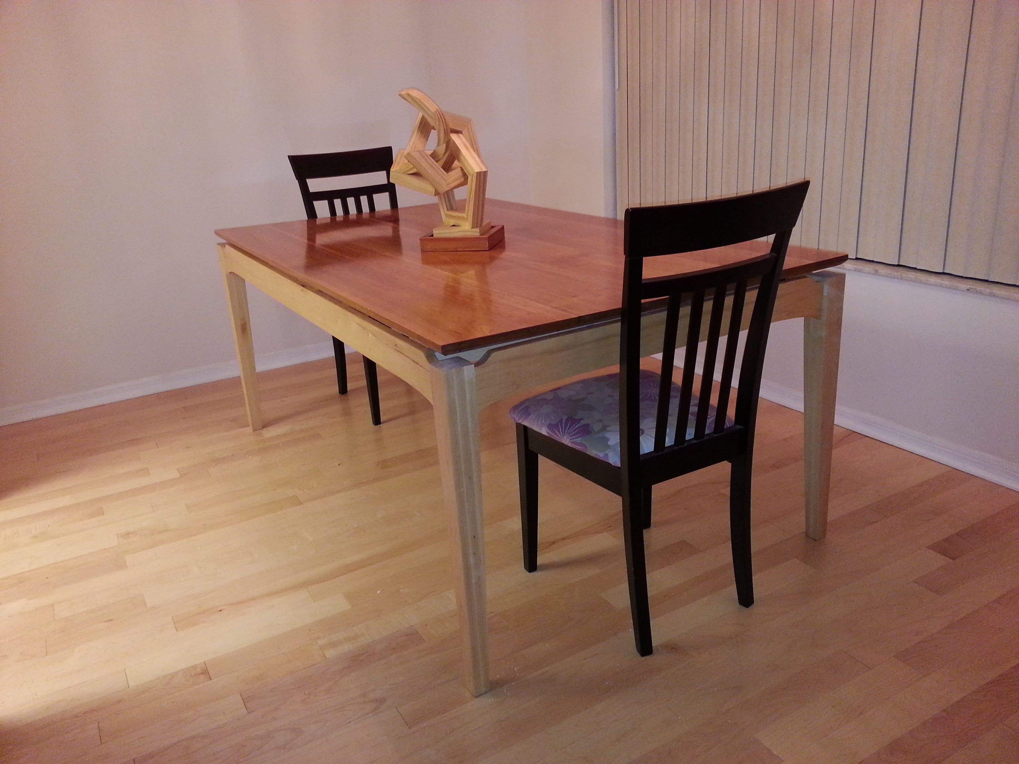 """My Cherry And Maple Dining Room Tablei Made The Top """"floating Extraordinary Maple Dining Room Table Inspiration"""