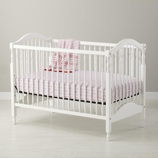 The Land Of Nod Baby Cribs Classic White Wooden Baby Crib In