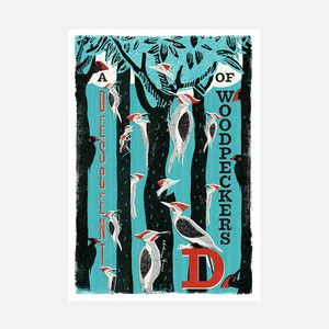 Descent Of Woodpeckers Print, £88, now featured on Fab.
