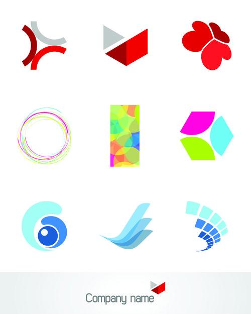Free - Different 3D logos design elements vector 03 | Free logos ...