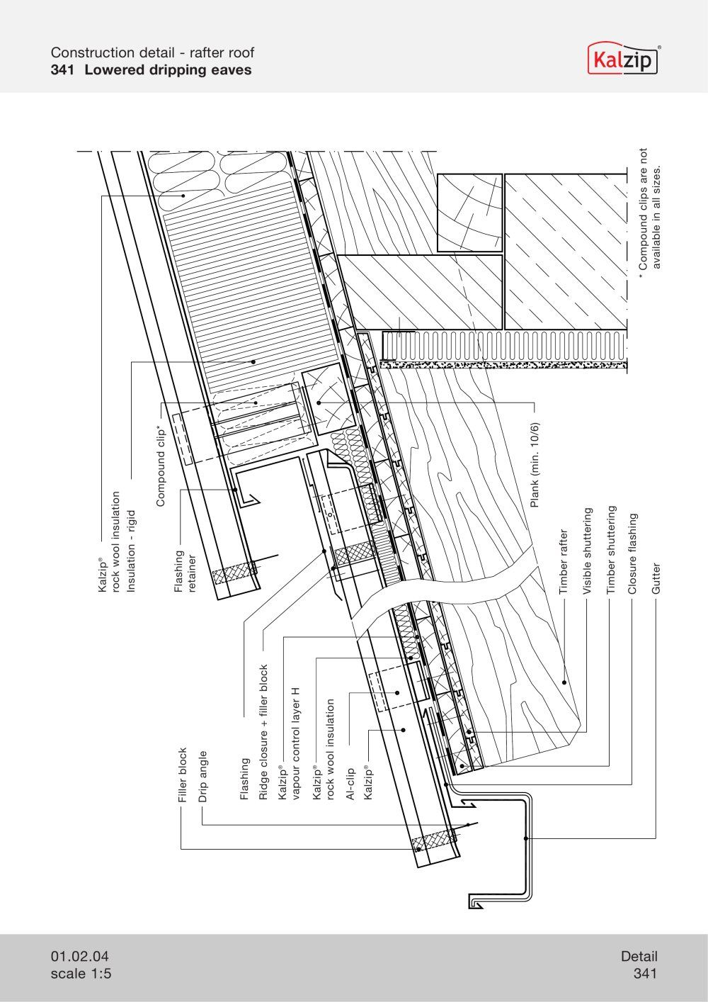 Kalzip Construction Details Archiexpo Gutters Detailed Drawings Aluminum Roof