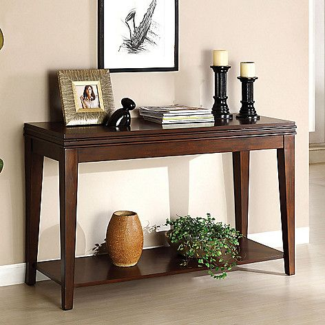 Furniture Of America 48 Chestwood Dark Cherry Finished Sofa Table On Sale At Shophq Com Wood Sofa Table Furniture Of America Sofa End Tables
