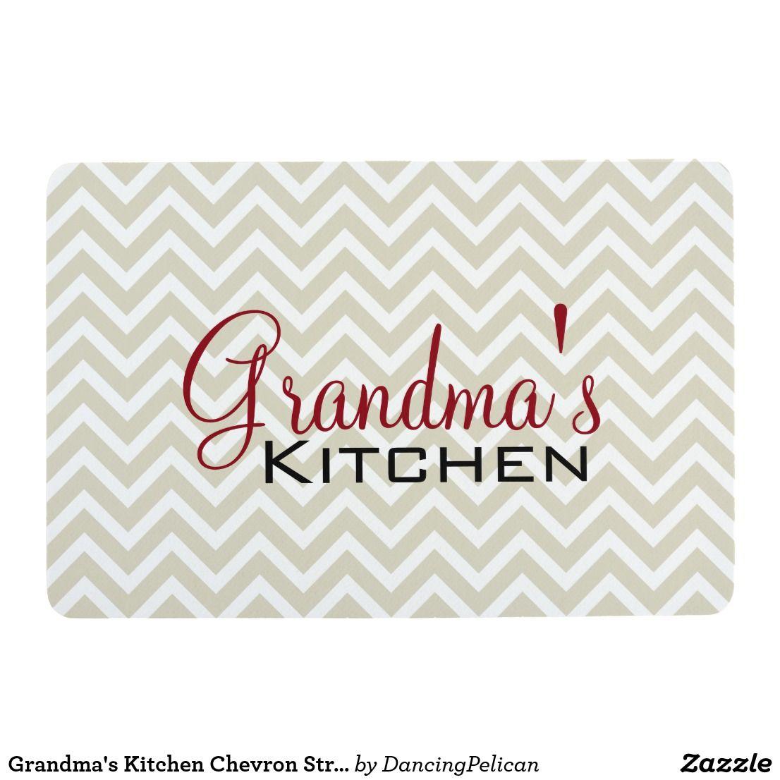 Grandma\'s Kitchen Chevron Stripes Pattern Floor Mat | Other, Colors ...