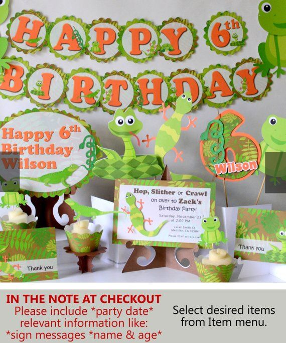 Snake Birthday Party Decorations Reptile Party Decorations