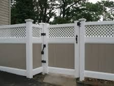 two tone fence - Google Search