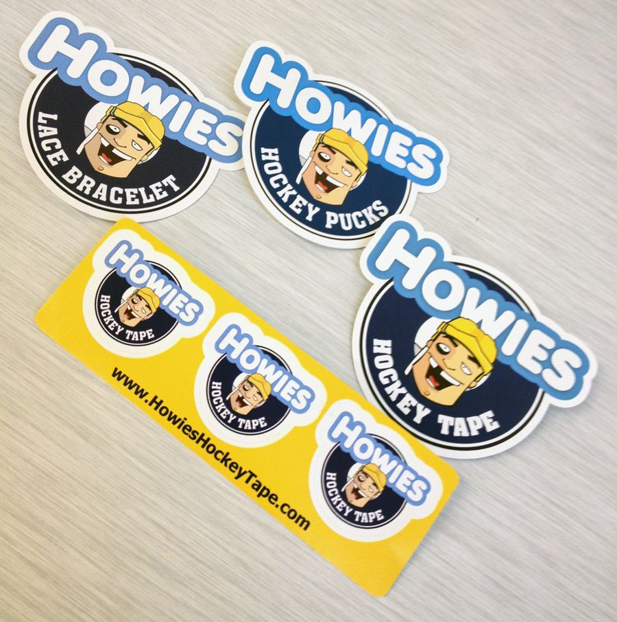 Howies hockey tape small cut out stickers and double cut sticker sheet