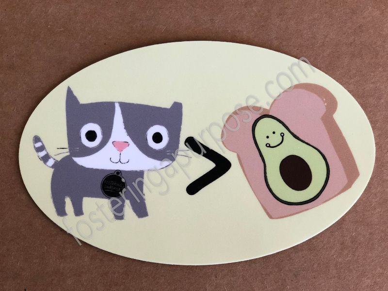 Avocado Toast Sticker Avocado Toast Kitty Stickers