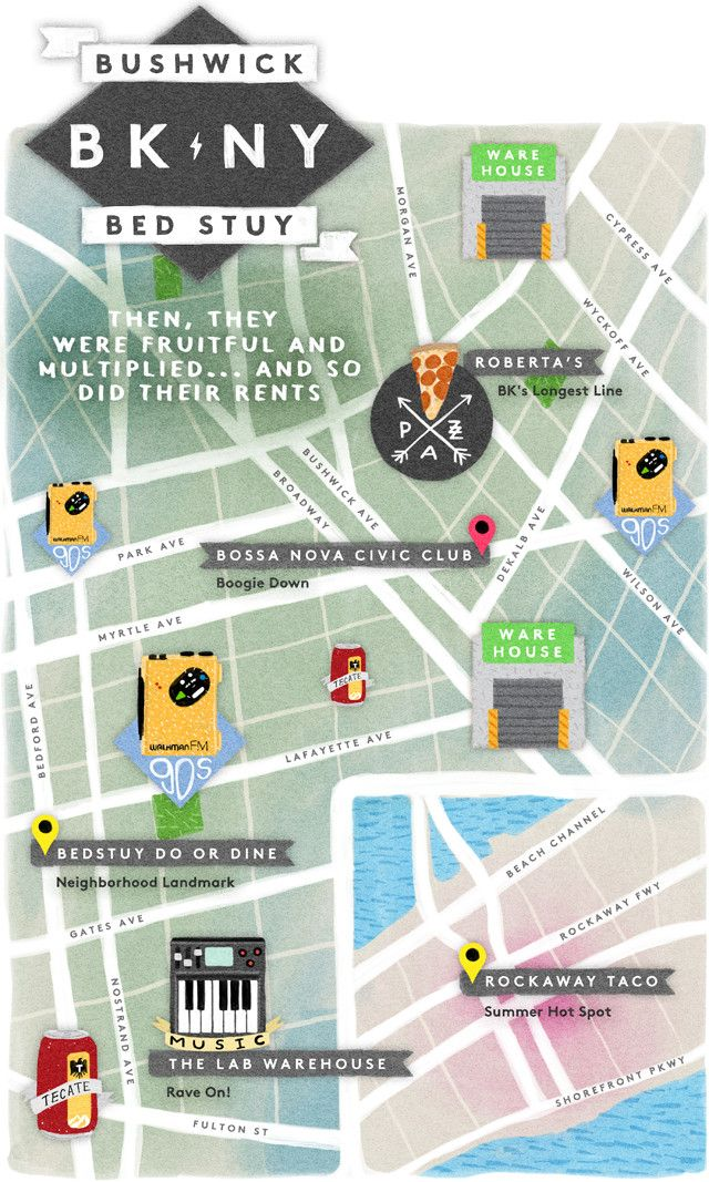 map of bushwick brooklyn ny Things To Do In Brooklyn Hipster Heatmap Bushwick Brooklyn map of bushwick brooklyn ny
