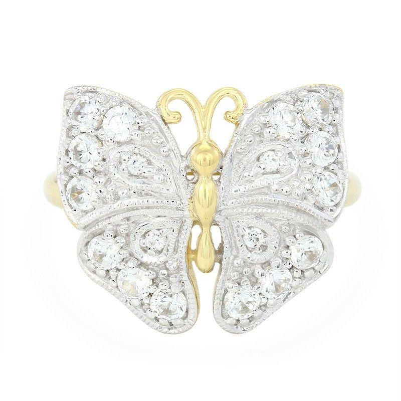 00062fc6a56aa8 Papillon serti de vrais Zircons - Bague pour femme - Bijoux en argent -  Juwelo Bijouterie