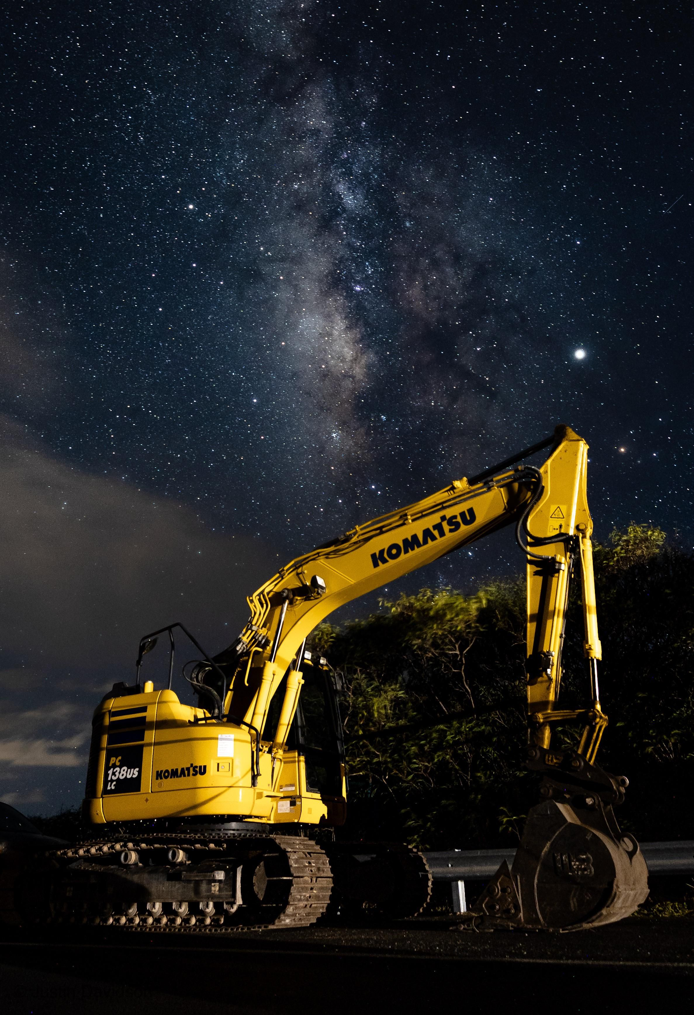 ITAP Of An Excavator And The Milky Way By Dinglez808