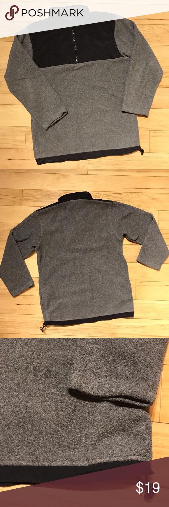 ProSpirit Men's Grey Fleece Zip Pullover EUC | Colour gray ...
