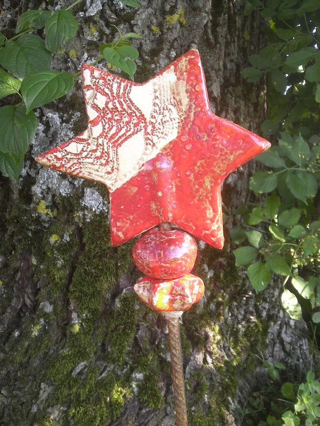 Aus Was Besteht Keramik keramik sternstele rot die keramik stele besteht aus drei teilen