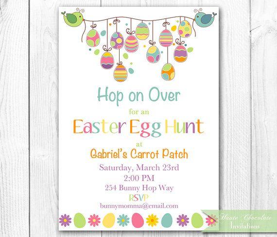 Easter Egg Hunt Invitation Easter Egg By