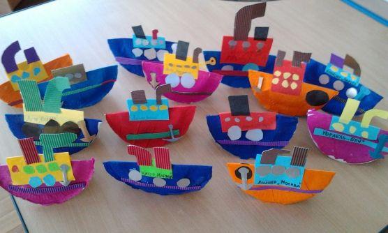 Корабли из бумажных тарелочек. Воспитателям детски