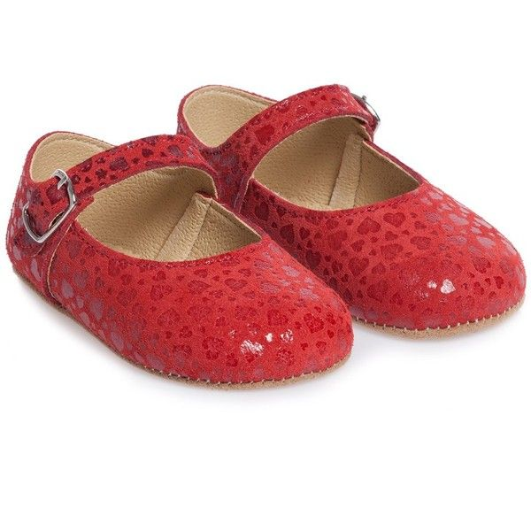 Early Days Girls Red Leather Pre-Walker Shoes ($46) ❤ liked on Polyvore